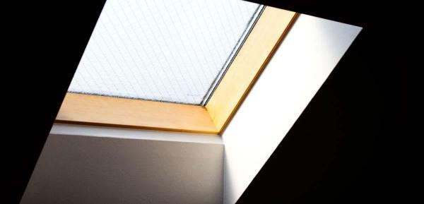 Puits de lumière dans un toit