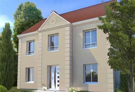 Modèle de maison avec étage