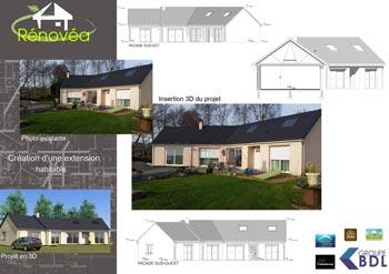 Projet d'extension de maison avec Rénovéa